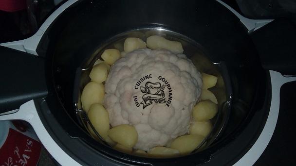 cuisson d'un chou fleur entier au COOKEO sur dans la cuisine de Gigi - Blog de cuisine de Gigi61
